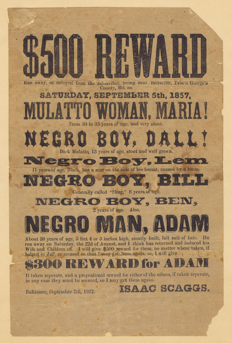 auction of black history including major rarities escape to dom on the underground railroad