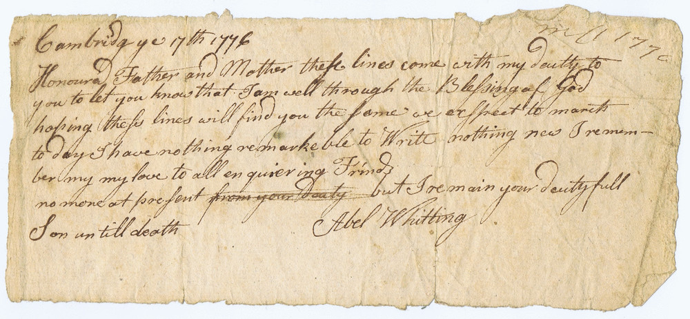 2 6 A Soldier Writes From Washingtons Headquarters