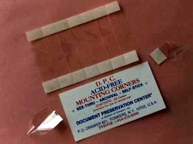 Preserve, display, protect and repair your irreplaceable paper items